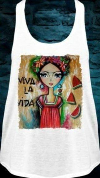 camiseta viva Frida Kahlo La Loca Pürpura