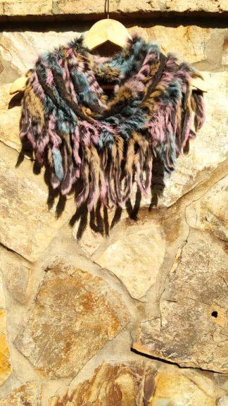 Cuello flecos multicolor