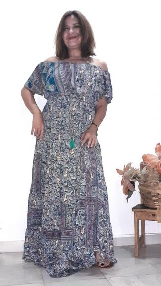 Vestido boho seda india La Loca Púrpura