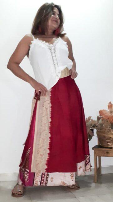 Falda mágica seda india La Loca Púrpura