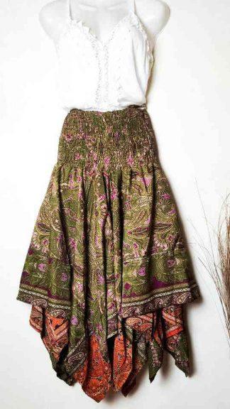 Vestido falda boho seda india La Loca Púrpura