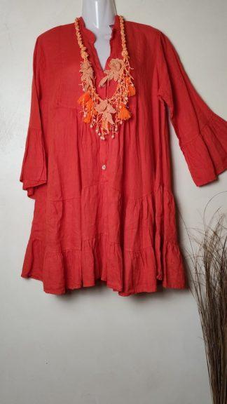vestido de lino La Loca Púrpura