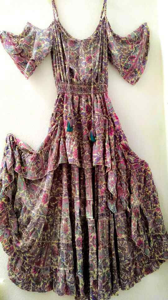 Vestido seda india boho La Loca Púrpura