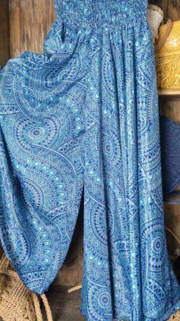 Pantalón boho seda india La Loca Púrpura