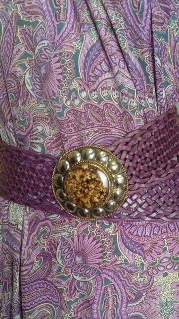 Cinturón boho piel La Loca Púrpura