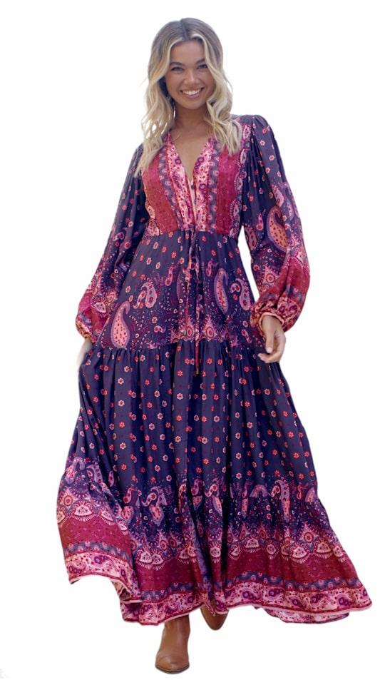 Vestido boho Jaase La Loca Púrpura