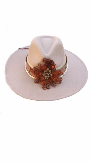 Sombrero Beige con flor