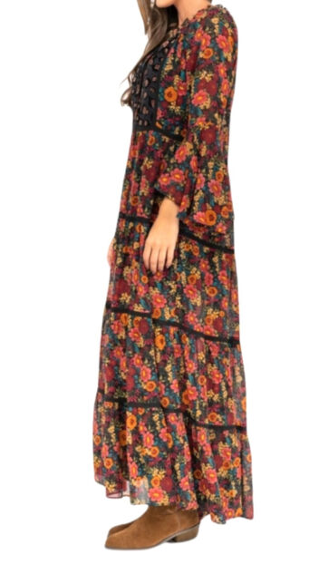 vestido largo estampado estilo boho