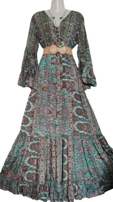 vestido largo seda
